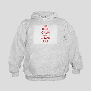 Keep Calm and Cedar ON Kids Hoodie
