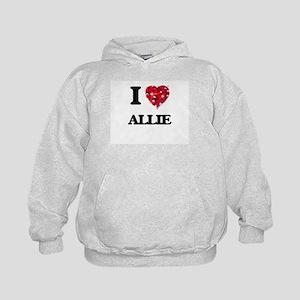 I Love Allie Kids Hoodie