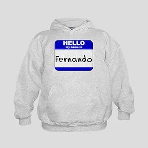 hello my name is fernando Kids Hoodie