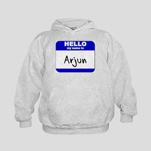 hello my name is arjun Kids Hoodie