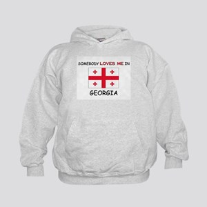 Somebody Loves Me In GEORGIA Kids Hoodie