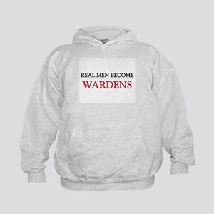 Real Men Become Wardens Kids Hoodie