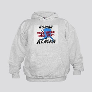 kodiak alaska - been there, done that Kids Hoodie