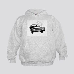 Impala with devils trap Kids Hoodie