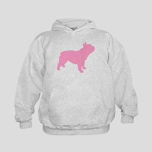Pink French Bulldog Kids Hoodie
