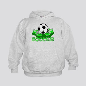 Soccer (Green) Kids Hoodie