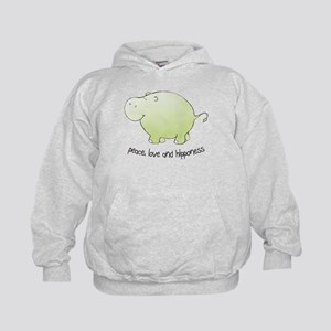 2-green_peace_love_hipponess Sweatshirt