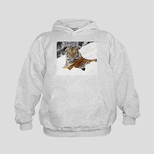 Tiger In Snow Hoody
