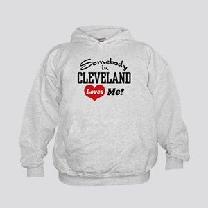 Somebody in Cleveland Loves Me Kids Hoodie