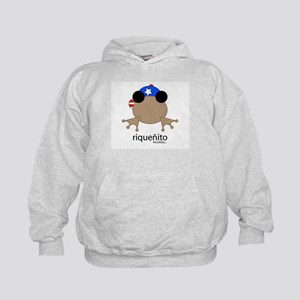 riquenito *PUERTO RICAN* coqui Kids Hoodie
