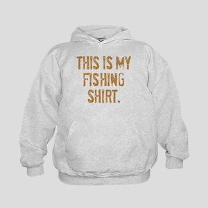 THIS IS MY FISHING SHIRT. Kids Hoodie