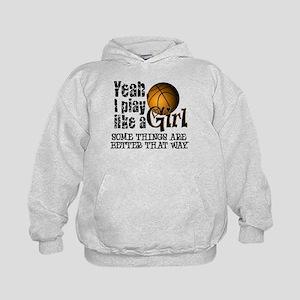 Play Like a Girl - Basketball Kids Hoodie
