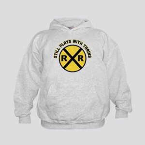 Still Plays With Trains Kids Hoodie