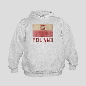 Vintage Poland Kids Hoodie
