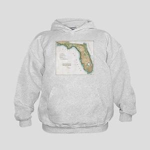 Vintage Map of Florida (1848) Kids Hoodie