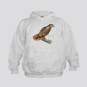 Red-Tailed Hawk Bird Kids Hoodie