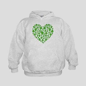 MY IRISH SHAMROCK HEART Kids Hoodie