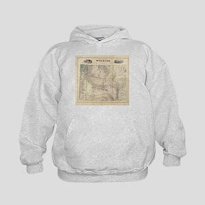 Vintage Map of Wyoming (1883) Sweatshirt