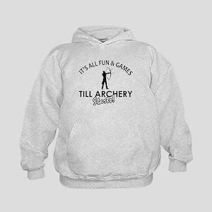 Archery enthusiast designs Kids Hoodie