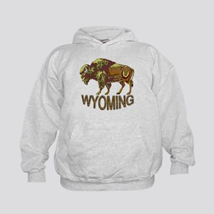 Wyoming state crest e3 Hoodie