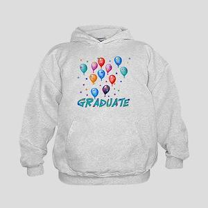 Graduation Balloons Kids Hoodie
