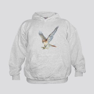 striking Red-tail Hawk Kids Hoodie