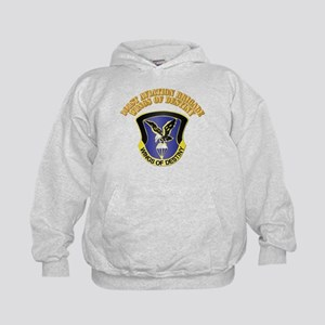 DUI - 101st Aviation Brigade with Text Kids Hoodie