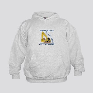 Warning Excavator With An Attitude Hoodie