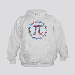 Tie Dye Pi Day Tees and Gifts Kids Hoodie