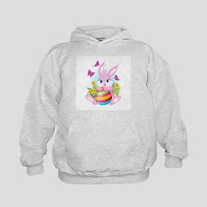Pink Easter Bunny Kids Hoodie