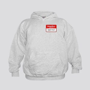 Personalized Hello Name Tag Kids Hoodie