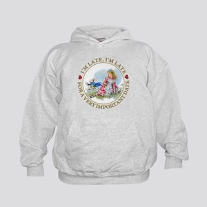 I'm Late , I'm Late, For a Very Import Kids Hoodie