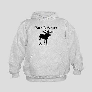 Custom Moose Silhouette Hoodie