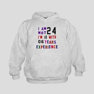 24 Birthday Designs Kids Hoodie
