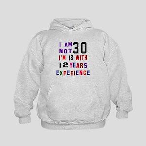 30 Birthday Designs Kids Hoodie