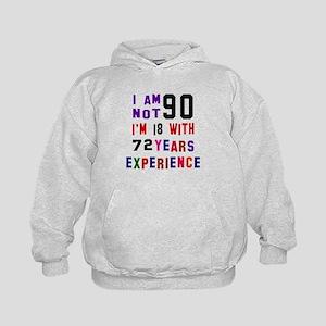 90 Birthday Designs Kids Hoodie