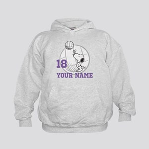 Snoopy Volleyball - Personalized Kids Hoodie