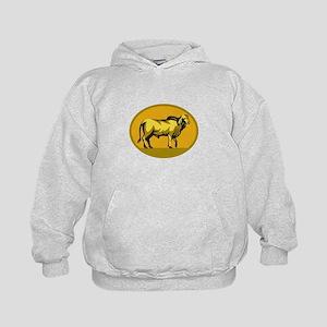 Brahman Bull Oval Retro Hoodie