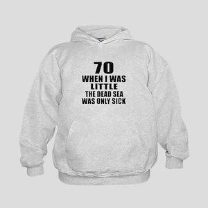 70 When I Was Little Birthday Kids Hoodie