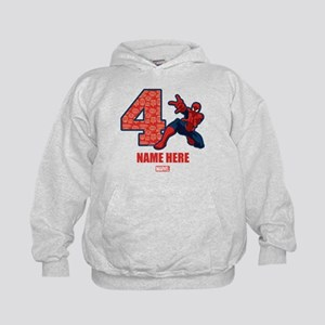 Spider-Man Personalized Birthday 4 Kids Hoodie