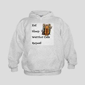 Eat Sleep Warrior Cats Repeat Jumper Hoody Sweatsh