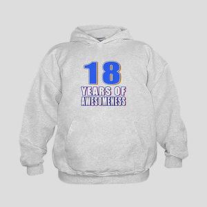 18 Years Of Awesomeness Kids Hoodie