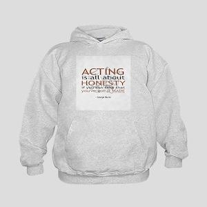 George Burns Acting Quote Kids Hoodie