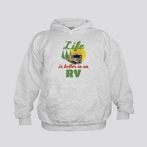 Life's Better In An RV Kids Hoodie