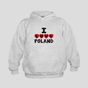 I Love Poland Kids Hoodie