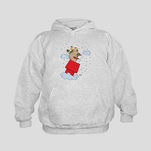 Flying Ace Santa Kids Hoodie