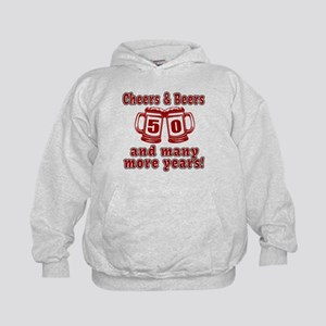Cheers And Beers 50 And Many More Year Kids Hoodie