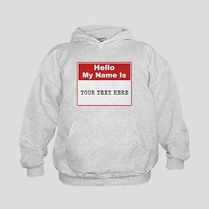 Custom Name Tag Kids Hoodie