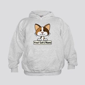 Personalized Calico Cat Kids Hoodie
