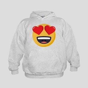 Heart Eyes Emoji Kids Hoodie